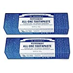 Dr. Bronner's - All-One Toothpaste (Peppermint, 5 ounce, 3-Pack) - 70% Organic Ingredients, Natural and Effective… 2 MADE WITH ORGANIC and FAIR TRADE INGREDIENTS: Dr. Bronner's All-One Toothpaste is made with 70% organic ingredients-our low-foaming formula helps whiten teeth, reduce plaque and freshen breath. NO SYNTHETIC FOAMING AGENTS: No Sodium Lauryl Sulfate, Sodium Lauroyl Sarcosinate, Ammonium Lauryl Sulfate, Sodium Methyl Cocoyl Taurate-none! No artificial colors, flavors, preservatives, or sweeteners. Fluoride- and cruelty-free! A SIMPLE FORMULA: Hydrated Silica and Calcium Carbonate act as natural, gentle abrasives; Baking Soda and Potassium Cocoate (made with Organic Coconut Oil) are superb natural cleansers; Organic Essential Oils provide refreshing flavor. It's that simple!