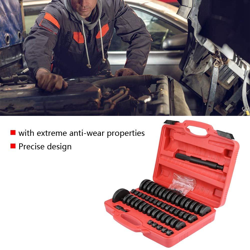 Bush Bearing Seal Driver Set, 51pcs Interchangeable Custom Bushing Press Set Remover Installer Removal Built Hand Tool Slide Hammer Puller Kit for Car Repair by Zerone (Image #4)