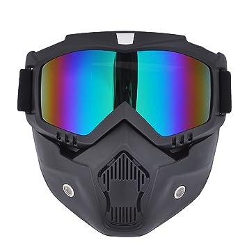 Máscara de motocross Madbike con gafas y filtro para la boca extraíbles