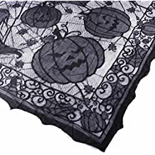 Gigamax(TM) Halloween Sp id er Web Tablecloth 152*203cm Ghost Pumpkin Table Cover for Halloween Decoraiton Festive Party Supplies