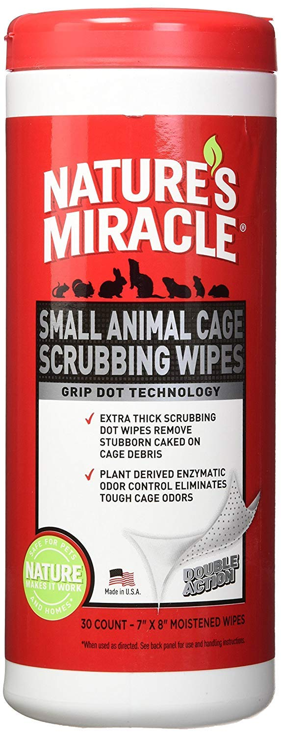 Nature's Miracle 60 Count Small Animal Cage Scrubbing Wipes by Nature's Miracle