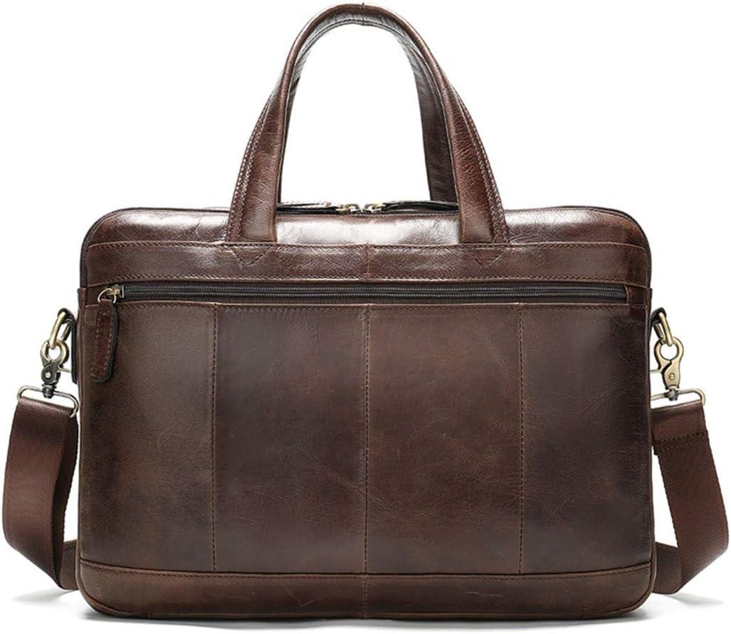 Mens Briefcase Bag Genuine Leather Laptop Bag For Document Business Handbag Large Office Travel Bag 8321D4redbrown