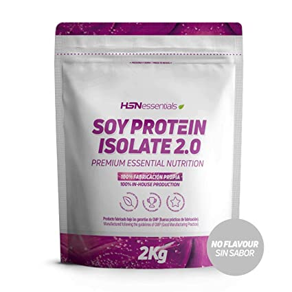 Proteína de Soja Aislada de HSN | Proteína Vegana con Stevia | Soy Protein Isolate | Sin Gluten, Sin Colesterol, Sin OMG, Sin Lactosa, Sin Sabor, ...