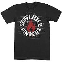 Stiff Little Fingers T Shirt Wall Band Logo Official Mens Black