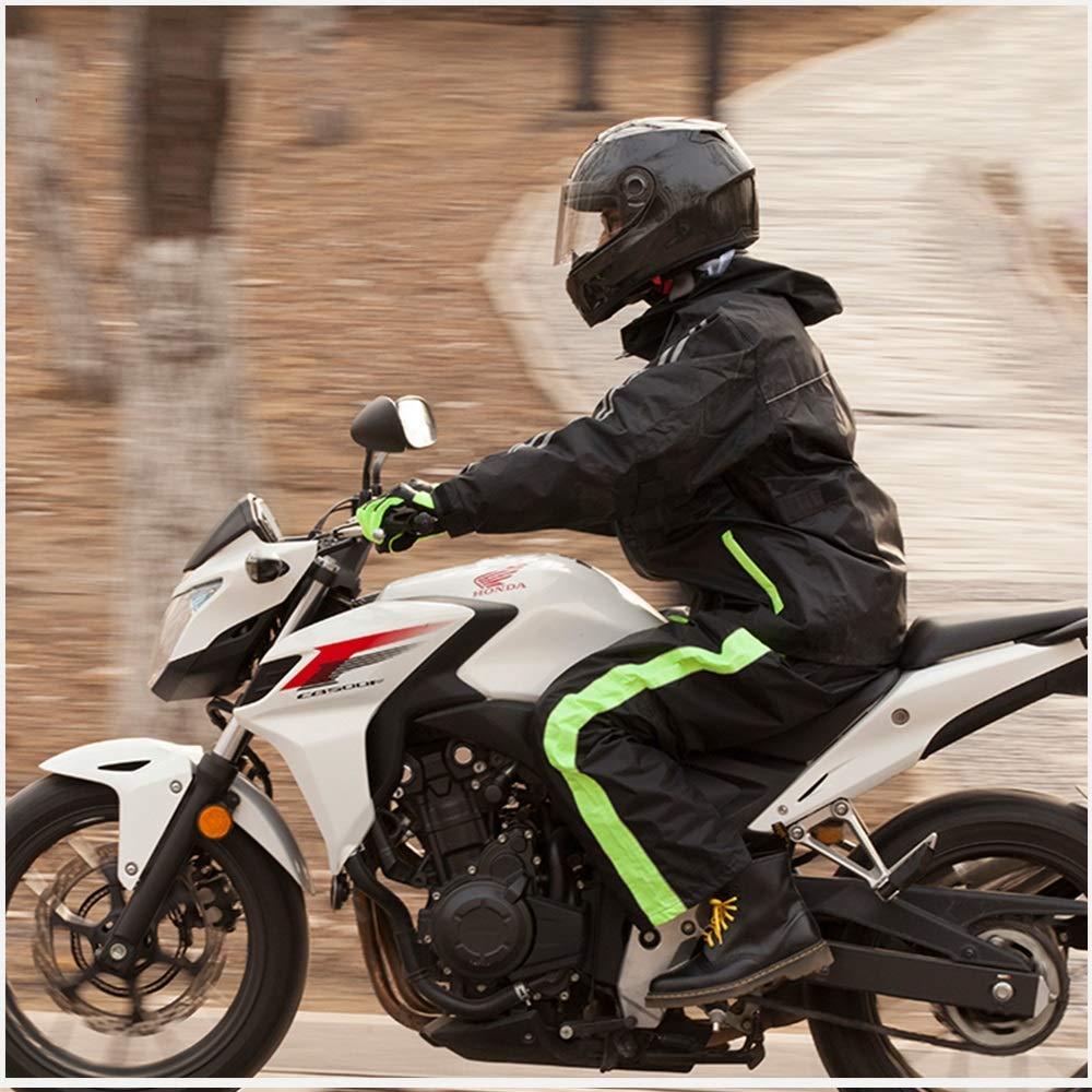 vert XL Guyuan Pantalon de Pluie Moto Hors Route Costume de Split Costume Voiture électrique équitation Adultes Hommes et Femmes Moto imperméable Ensemble (Couleur   rouge, Taille   XXL)