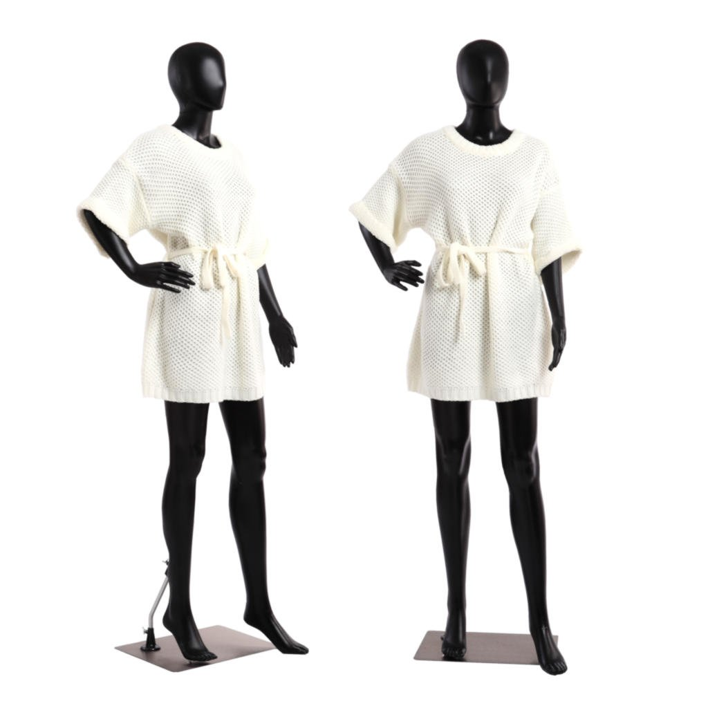 Abstract Standing Female 33''-24''-34'' Mannequin + Base (FC-11B) by AMT Mannequins