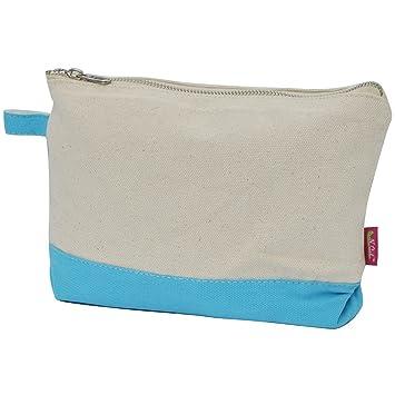 29a75e3f68 Amazon.com   Jute Canvas NGIL Large Cosmetic Bag Pouch AQUA   Beauty