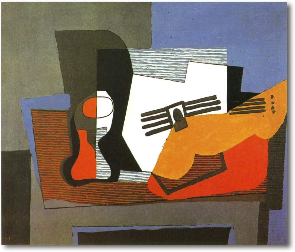 Cuadro Decoratt: Naturaleza muerta con guitarra - Pablo Picasso ...