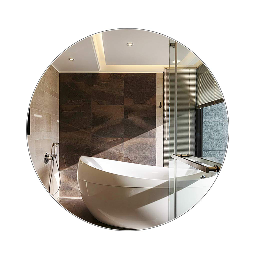 60CM Large Modern Round Frameless Wall Mounting Mirror, Decorative Mirror for Living Room Or Bathroom,Dressing,Toilet,Creative Hanging Nordic