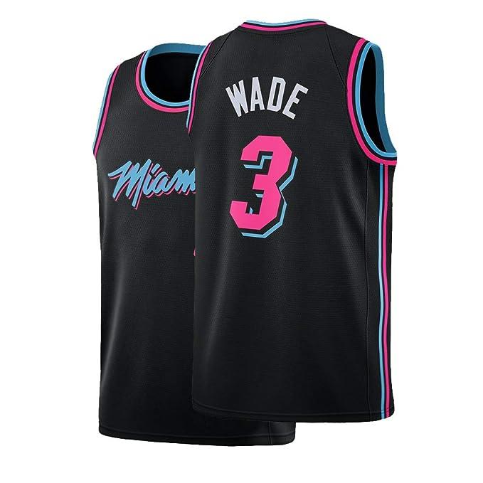 pretty nice d9f2c ac3ac Amazon.com: Bzzaxv Kids Wade Jersey Miami Basketball Youth 3 ...
