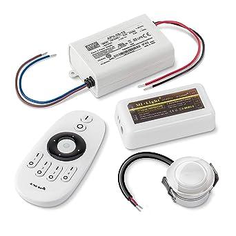 """6er-Set 1W LED Mini-Einbauspot /""""Aldyne/"""" IP65 WW mit 12W Trafo 12V DC IP67 bis 10"""