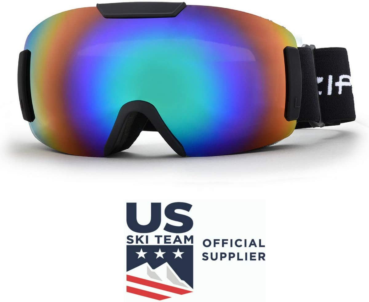 Ski Snowboard Snowmobile Goggles Zipline Podium ST – No Fog Interchangeable Lenses – U.S. Ski Snowboard Team Official Supplier