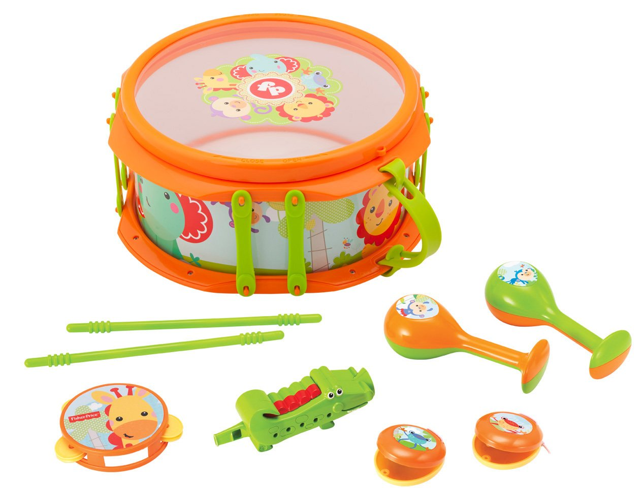Fisher-Price KFP2136 Musikband-Drum-Set, Mehrfarbig FISHER PRICE