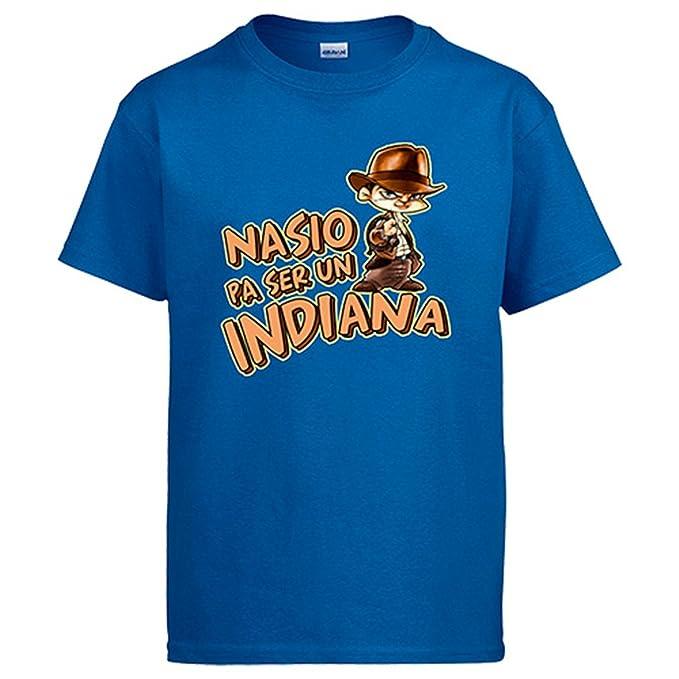 Diver Camisetas Camiseta Indiana Jones Nacido para ser un Indiana   Amazon.es  Ropa y accesorios dbdcdaf54b2