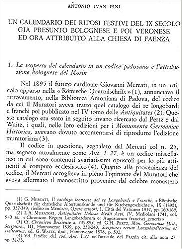 Calendario Del 1979.Un Calendario Dei Riposi Festivi Del Ix Secolo Gia Presunto