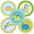 Dinosaur Sticker Labels - Kids Children Boy Girl Birthday Baby Shower Party Supplies - Set of 50