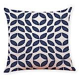 GOVOW Home Decor Under 10 Dollars Cushion Cover Dark Blue Style Throw Pillowcase for Car