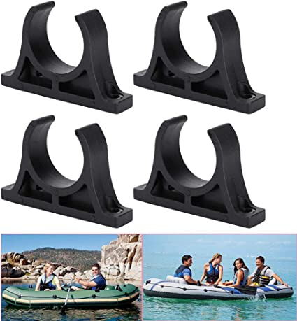 4pcs Plastic Kayak Boat Paddle Holder Mount Clips Keeper Watercraft Accessories