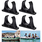 Luckycivia 2 Pairs Kayak Paddle Holder, Plastic Inflatable Boat Paddle Holder Clip, Oar Keeper for Kayaks Canoes Rowing…