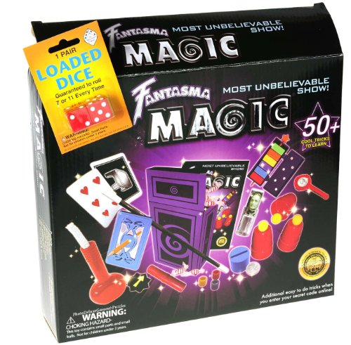 Magic Deluxe Kit (Fantasma Most Unbelievable Magic Show Kit _ Plus Bonus Loaded Dice)