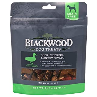 Blackwood Pet Grain Free Dog Treats Made in USA [Duck, Chickpeas, & Sweet Potato Natural Dog Treats], 4 oz. Resealable Bag
