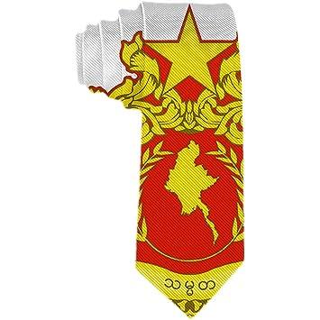 Mens State Seal of Myanmar Corbata Corbata de seda de poliéster ...