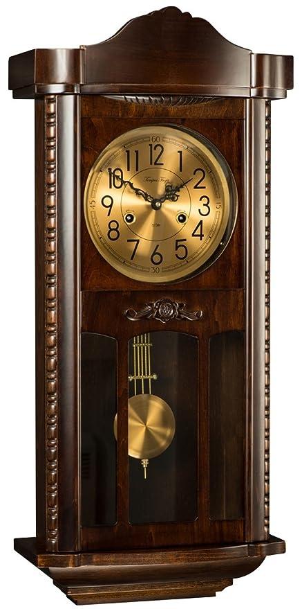 Clásica – Reloj de pared de péndulo Reloj – Tempus fugit – 2974l12