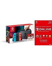 Nintendo Switch - Neon Red/Neon Blue + Switch Online 12 Months (Code)