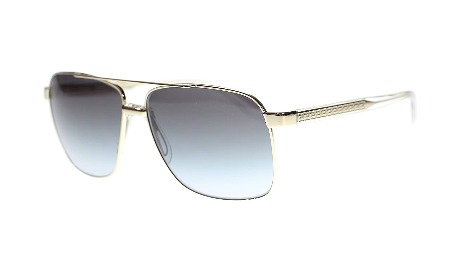63cd6a36ed Versace Mens Sunglasses VE2174 12528G Pale Gold Grey Lens Square 59mm  Authentic  Amazon.ca  Clothing   Accessories