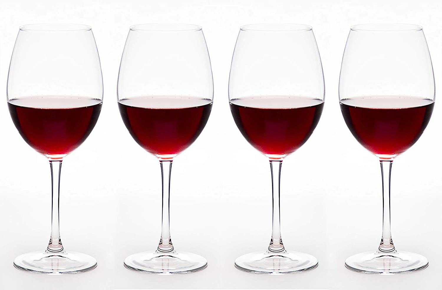 29152-FLG 18.5 oz Premium Collection Large All Purpose Wine Goblet Set of 4 Red Co