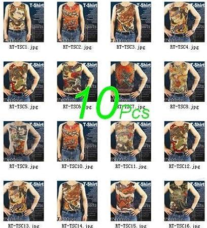 Amazon.com : Wholesale 10 pcs Novelty Tattoo T-shirts HOT ...