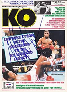 Mike Tyson Signed KO Magazine w COA Champ - PSA/DNA Certified - Autographed Boxing Magazines