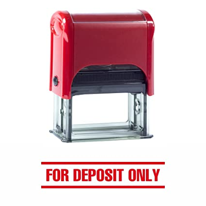 ExcelMark For Deposit ONLY Self Inking Rubber Stamp