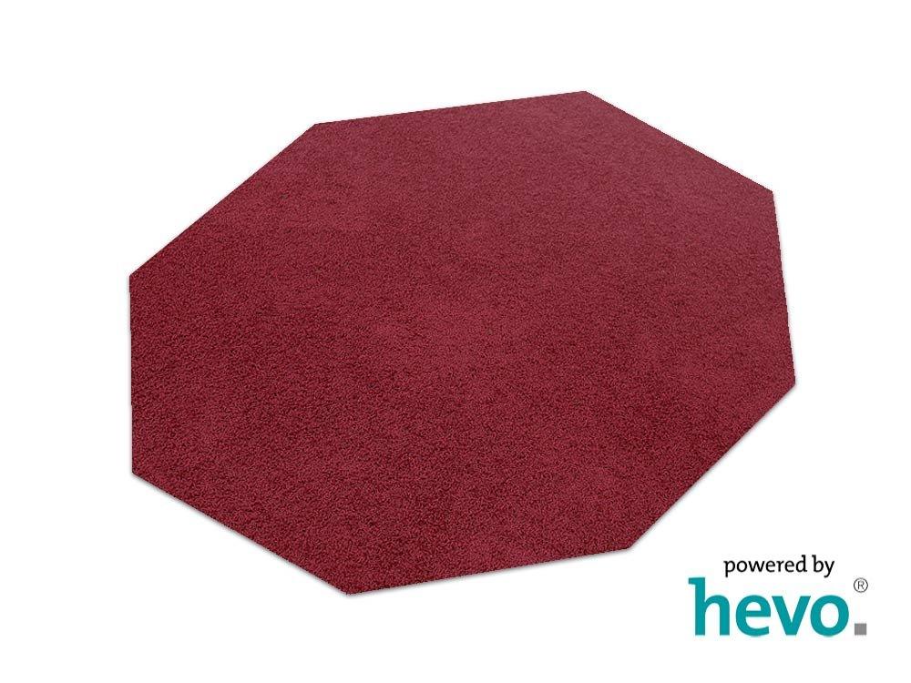 Fiji rot HEVO® Hochflor Shag Teppich   Kinderteppich 200 cm Achteck  200 cm Achteck