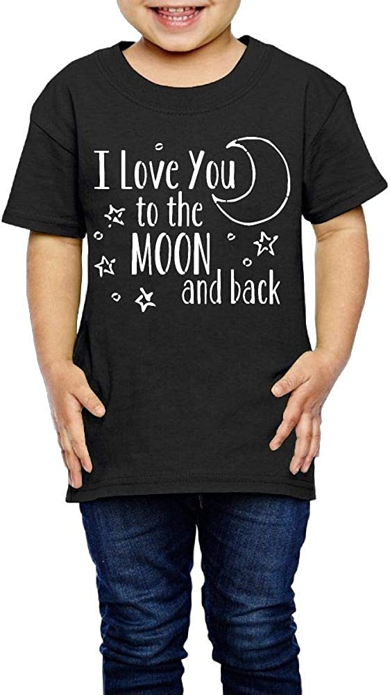 2-6 Years Old I Love You to The Moon Back Girls Boys Personality T-Shirt Summer Tee