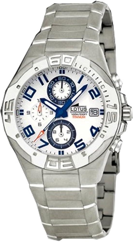 Reloj de Caballero crono de Titanio Resistente al Agua 100 Metros