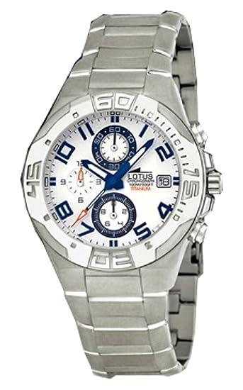 Reloj de caballero crono de titanio resistente al agua 100 metros: Amazon.es: Relojes