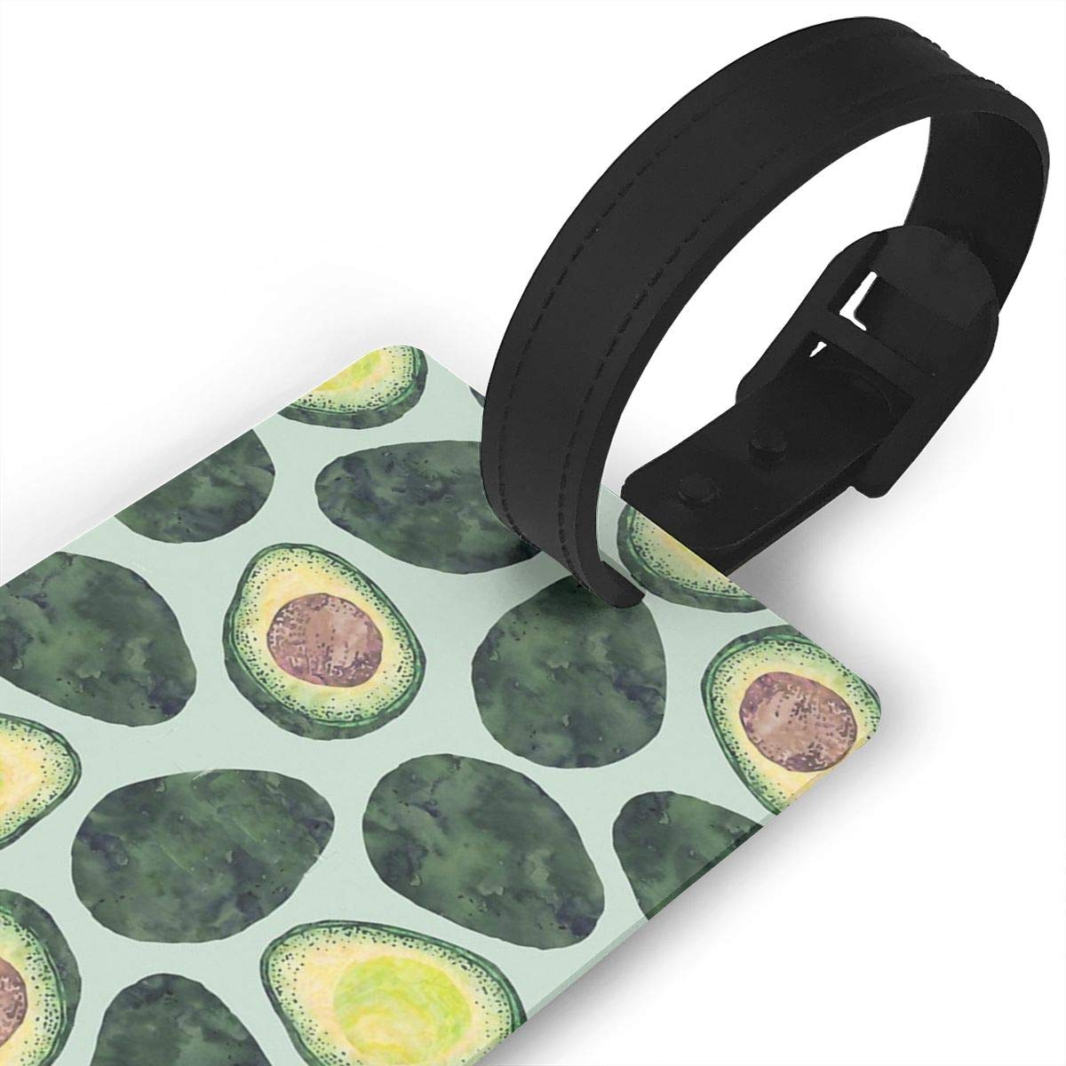 Avocado Addict Luggage Tags Suitcase Labels Bag Travel Accessories Set of 2