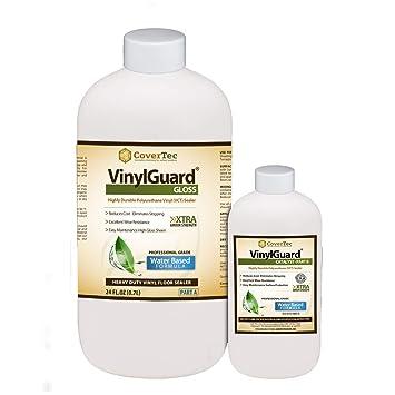 Vinylguard Gloss Sealer Floor Coating For Vct And Terrazzo 1 Qrt Prof Grade 2 Part Kit