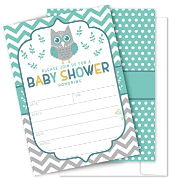 Miraculous Amazon Com Owl Baby Shower Invitations 25 High Quality Download Free Architecture Designs Scobabritishbridgeorg