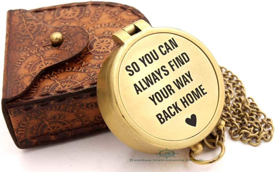 RII So you will always be able to find your way home/Personalized Compass/Boyfriend Gift/Husband Gift/Gift for Groom/Gift for Son/Gift for Girl/Anniversary Gifts/Birthday Gift