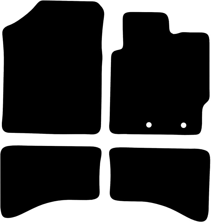 Blue BOTH FIXINGS Anthracite Car Mats Ford Transit Connect Van 2013+