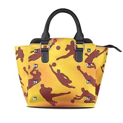 33cc24251db3 Amazon.com: LORVIES Women Goalkeeper Icons PU Leather Shoulder Bags  Top-Handle Handbag Tote Crossbody Bag: Shoes