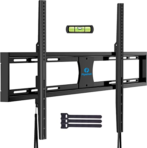 Pipishell Low Profile Fixed TV Wall Mount Bracket Ultra Slim for Most 42-90 Inch LED, LCD OLED Plasma Flat Curved Screen TVs up to VESA 800x600mm and 132lbs, Fits 16 , 18 , 24 Studs