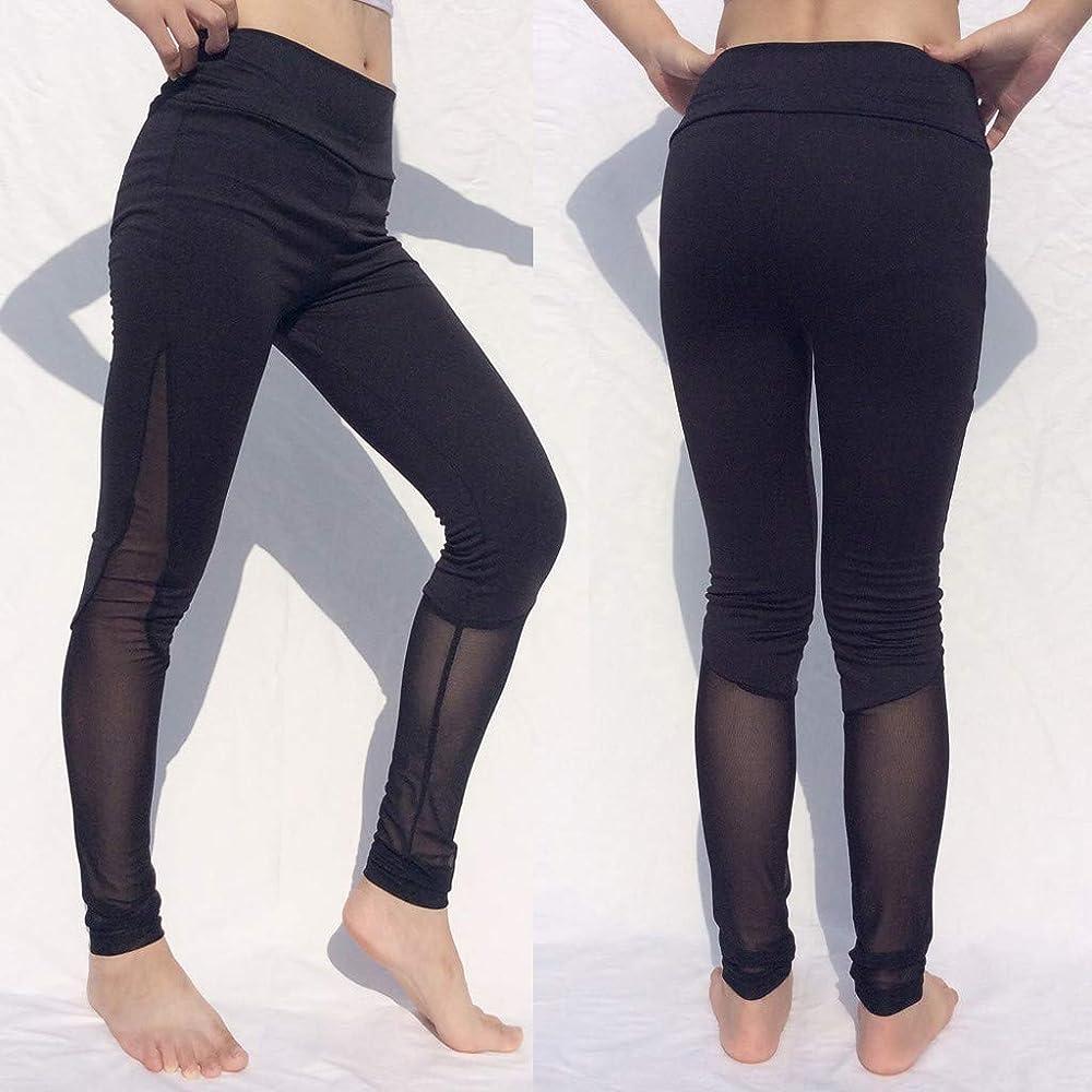 Mujer Malla Lateral Caderas Mujer Pantalones de Yoga Deportivo ...