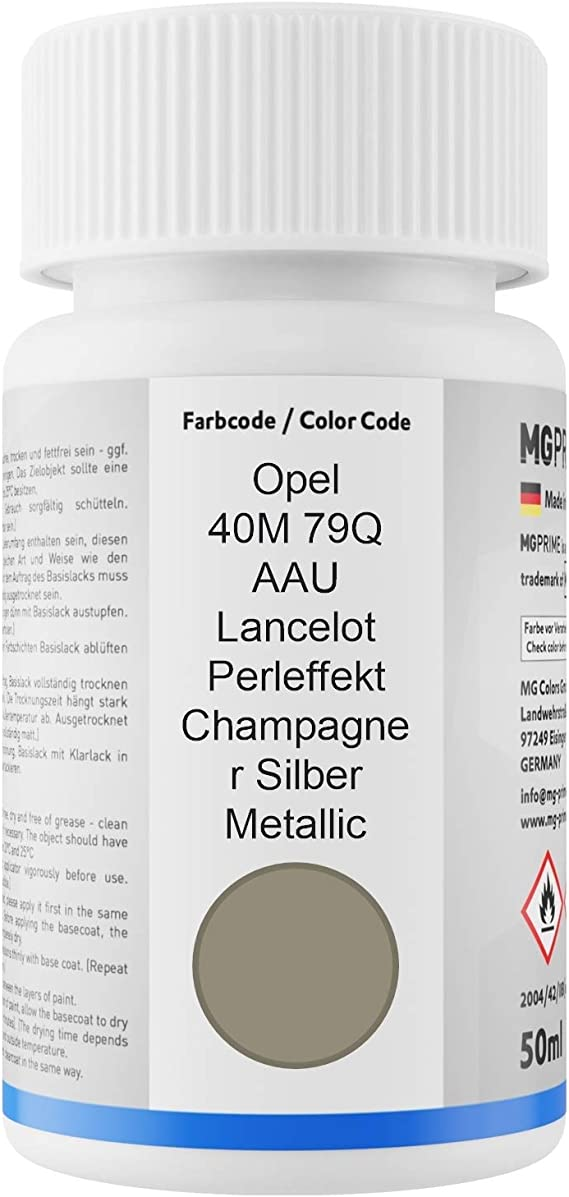 Mg Prime Autolack Lackstift Set Für Opel 40m 79q Aau Lancelot Perleffekt Champagner Silber Metallic Basislack Klarlack Je 50ml Auto