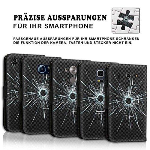 Wallet Book Style Flip Handy Tasche Case Schutz Hülle Schale Motiv Etui für Apple iPhone 5 / 5S - Design Flip MVD231