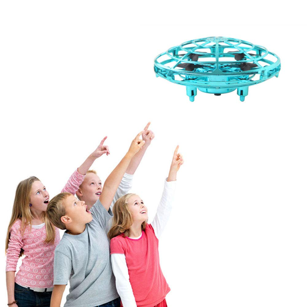 ZGYQGOO Hand Operated Drones for Kids 6 8 10 Year Old - Drone Toys for 5 6 7 8 9 10 Year Old Girls and Boys, Mini Easy Indoor Small Orb Flying Ball Indoor/Outdoor Teen Girl Gifts Blue by ZGYQGOO (Image #7)