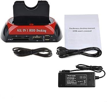 Unidad de Acoplamiento HDD Multifuncional USB Doble 2.5/3.5 ...