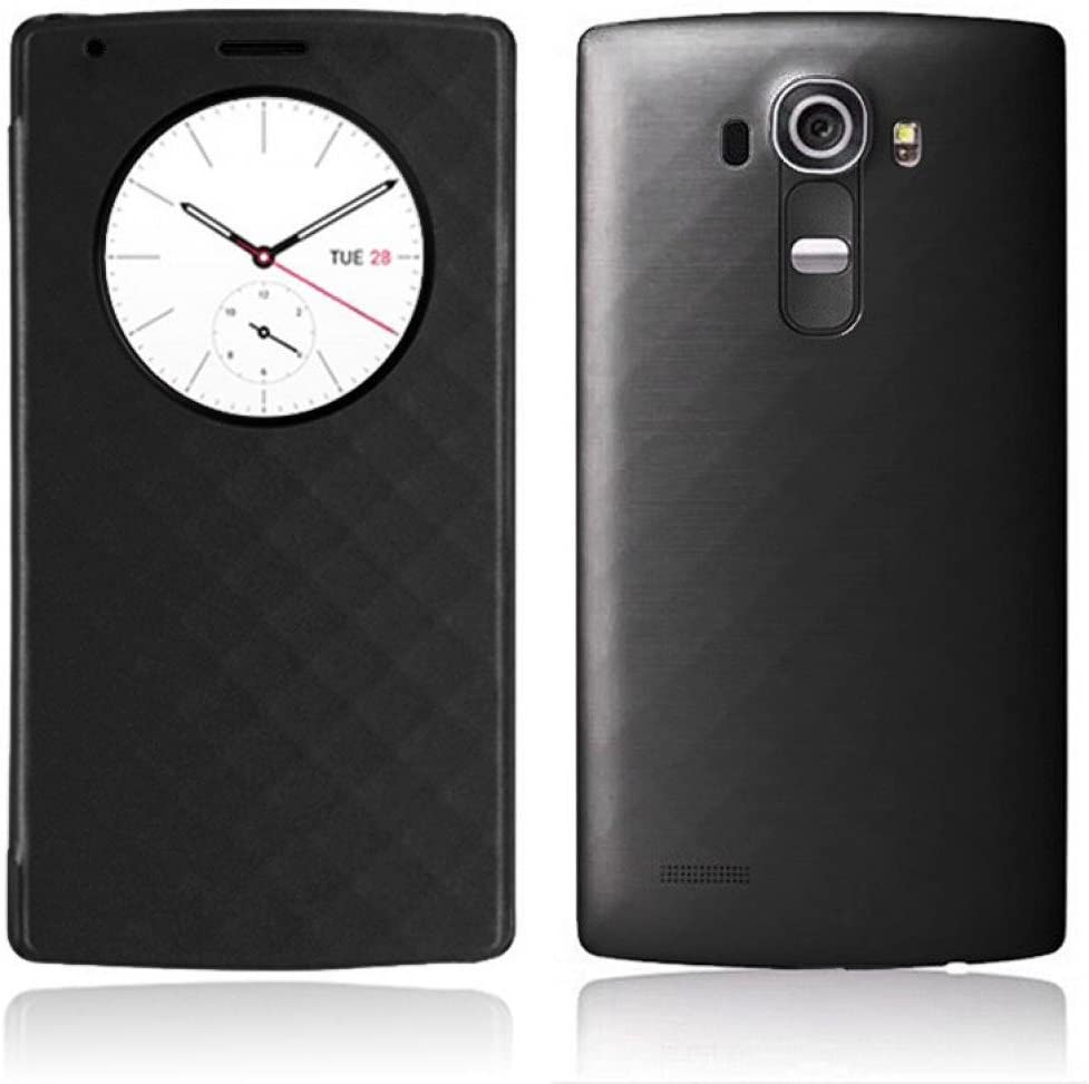 LG G4 Funda, Aimson Smartphone LG Reemplazo Círculo Rápido Funda Trasera con carga inalámbrica Qi Con NFC (negro): Amazon.es: Electrónica